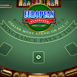 European Blackjack High Limit Banner 2
