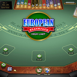 European Blackjack High Limit Banner 3