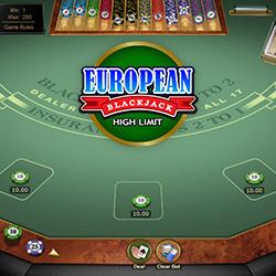 European Blackjack High Limit Banner 3